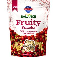 7.1-oz Fruity Snacks with Cranberries and Oatmeal Dry Dog Food (Set of 12)