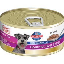 Small and Toy Mature Adult Gourmet Beef Entrée Wet Dog Food (5.8-oz)