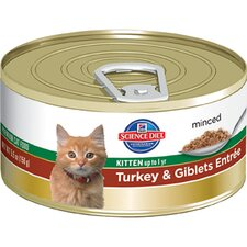 Kitten Turkey and Giblets Entrée Wet Cat Food (5.5-oz)