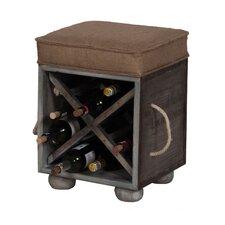 Small Wine Crate Ottoman