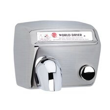 Model A Durable 208-240 Volt Hand Dryer in Brushed Stainless Steel