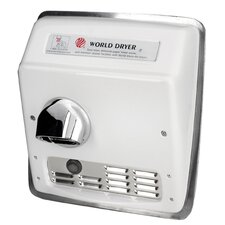 Model A Durable 208-240 Volt Hand Dryer in White