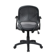 Mid-Back Mesh Secretarial Task Chair with Arms