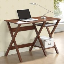 Stylish Writing Desk with Side Shelves