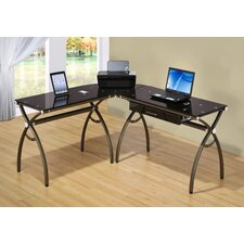 <strong>Techni Mobili</strong> L-Shaped Computer Desk