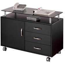 3 Drawer Mobile Seguro  File Cabinet