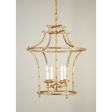 Bamboo 4 Light Mini Chandelier