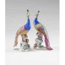 Peacocks Sculpture (Set of 2)