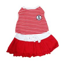 Fashion Sporty Sailor Dog Dress