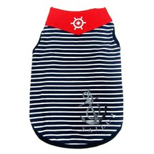 Fashion Striped Sailor Dog Tank Top