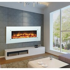 "Ivory 50"" Electric Wall Mounted Fireplace"