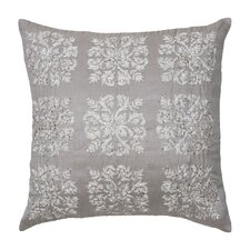 Emery Polyester Damask Embroidered Sequin Decorative Pillow