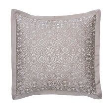 Emery Polyester Embroidered Circle Decorative Pillow
