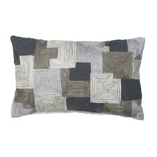 Miro Polyester Pleated Geo Decorative Pillow