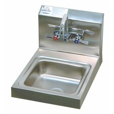 "Super Saver 12"" x 16"" Hand Sink with Faucet"