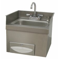 "<strong>Advance Tabco</strong> Countertop 18"" x 17"" Hand Sink with Faucet"