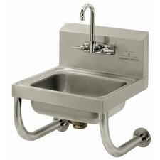 "Wall Mounted 15"" x 17"" Hand Sink with Faucet"