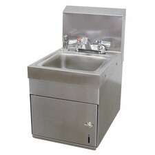 "<strong>Advance Tabco</strong> Space Saver 12"" x 16"" Wall Mounted Hand Sink with Faucet"