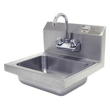 "15.25"" x 17"" Hand Wash Sink with Faucet"