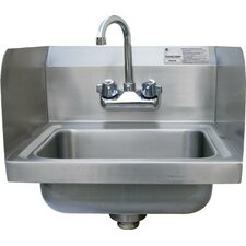 "Economy Wall Mounted 15.25"" x 17"" Hand Sink with Faucet"
