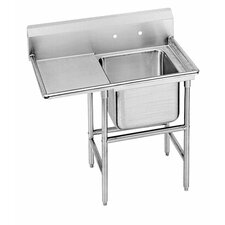 "<strong>Advance Tabco</strong> 940 Series Seamless Bowl 58"" x 27"" 1 Compartment Scullery Sink"