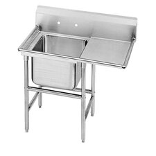 "940 Series Seamless Bowl 58"" x 27"" 1 Compartment Scullery"