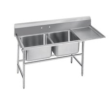 940 Series Seamless Bowl 2 Compartment Scullery Sink