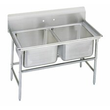"T-9 Series 44"" x 27"" 2 Compartment Scullery Sink"