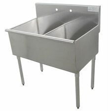 <strong>Advance Tabco</strong> 400 Series 2 Compartment Floor Utility Sink