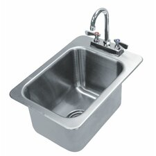<strong>Advance Tabco</strong> 304 Series 1 Compartment Drop-in Sink with Faucet