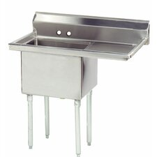 "<strong>Advance Tabco</strong> Economy Fabricated Bowl 38.5"" x 23.75"" 1 Compartment Scullery Sink"