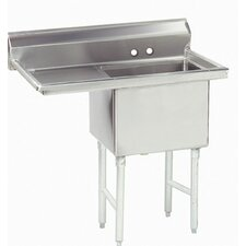 "<strong>Advance Tabco</strong> Economy Fabricated Bowl 45"" x 29.75"" 1 Compartment Scullery Sink"