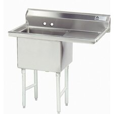 "Fabricated Bowl 38.5"" x 24"" 1 Compartment Scullery Sink"