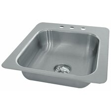 Seamless Bowl 1 Compartment Drop-in Sink