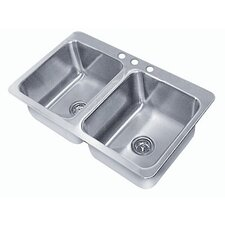 Seamless Bowl 2 Compartment Drop-in Sink
