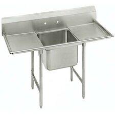 "T-9 Series 54"" x 27"" 1 Compartment Scullery Sink"