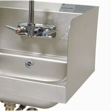 "<strong>Advance Tabco</strong> 7.75"" High Welded Side Splash for Sinks with 9"" x 9"" Bowl and Splash Mount Faucet"