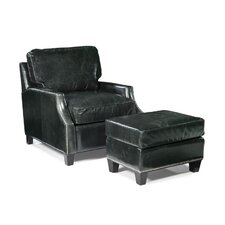 Anderson Leather Arm Chair and Ottoman