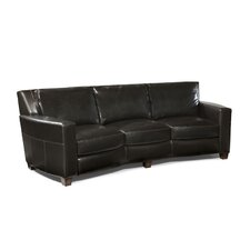 <strong>Palatial Furniture</strong> Marin Angled Leather Sofa