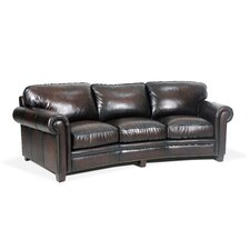 Hillsboro Angled Leather Sofa