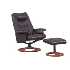 Mayfair Leather Swivel Recliner and Footstool