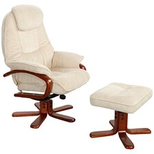 Hong Kong Swivel Recliner and Footstool