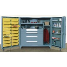 "60"" Wide Cabinet w/ 45"" W Modular Drawers and  Adjustable Shelves"