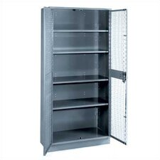 "All-Welded Visible Storage Cabinet with 4 Shelves and 4"" Base: 72"" H x 36"" W x 21"" D"
