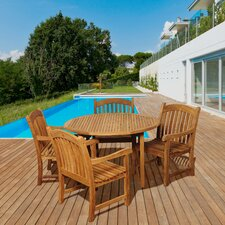 Amazonia Teak 5 Piece Dining Set