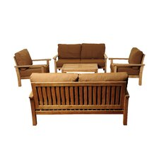 San Marcos 5 Piece Deep Seating Group with Sunbrella Cushions