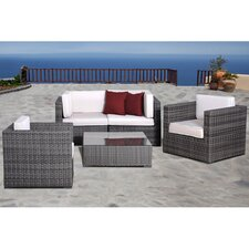 Atlantic 5 Piece Deep Seating Group with Cushions