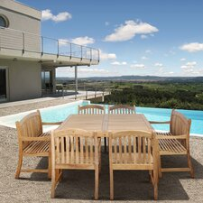 Amazonia Teak Knoxville 9 Piece Dining Set