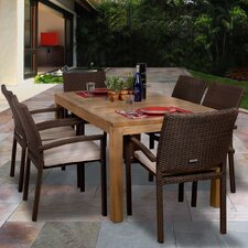 Amazonia Brownsville 7 Piece Dining Set I