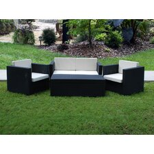 Bali Synthetic 4 Piece Deep Seating Group with Cushions